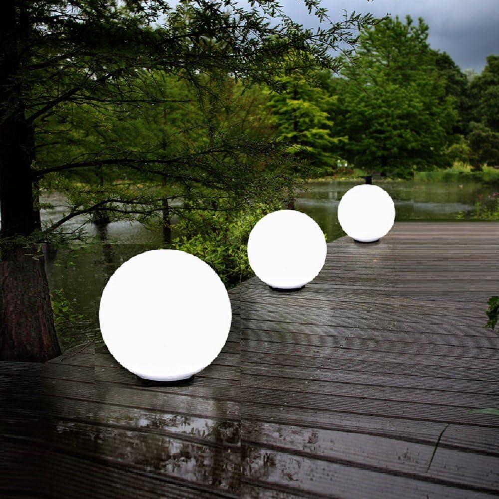 Kugeln in /Ø30cm und /Ø50cm 3er Kugelleuchten-Set f/ür Ihren Garten /Ø40cm Kugellampen ideal als Garten oder Terrassenbeleuchtung Au/ßen-Leuchten mit 2m Gummianschlussleitung und Stecker Erspie/ß