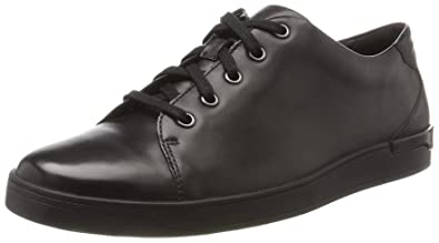 CLARKS SHOES STANWAY LACE BLACK LEATHER