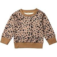 Suéter de leopardo para bebés y niñas, de manga larga con guepardo
