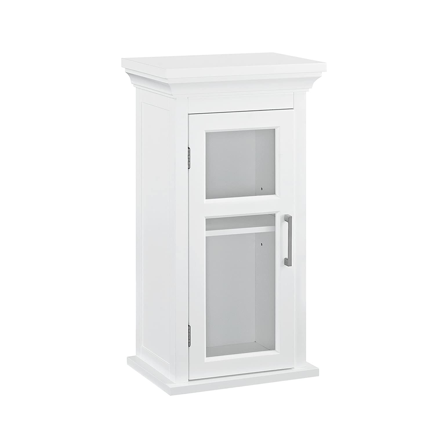 Simpli Home Avington Single Door Wall Cabinet, White CCT Global Sourcing AXCBC-005-WH