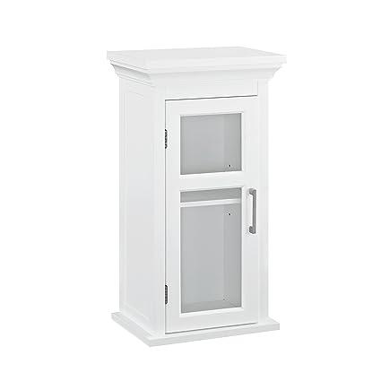 Amazon Simpli Home Avington Single Door Wall Cabinet White