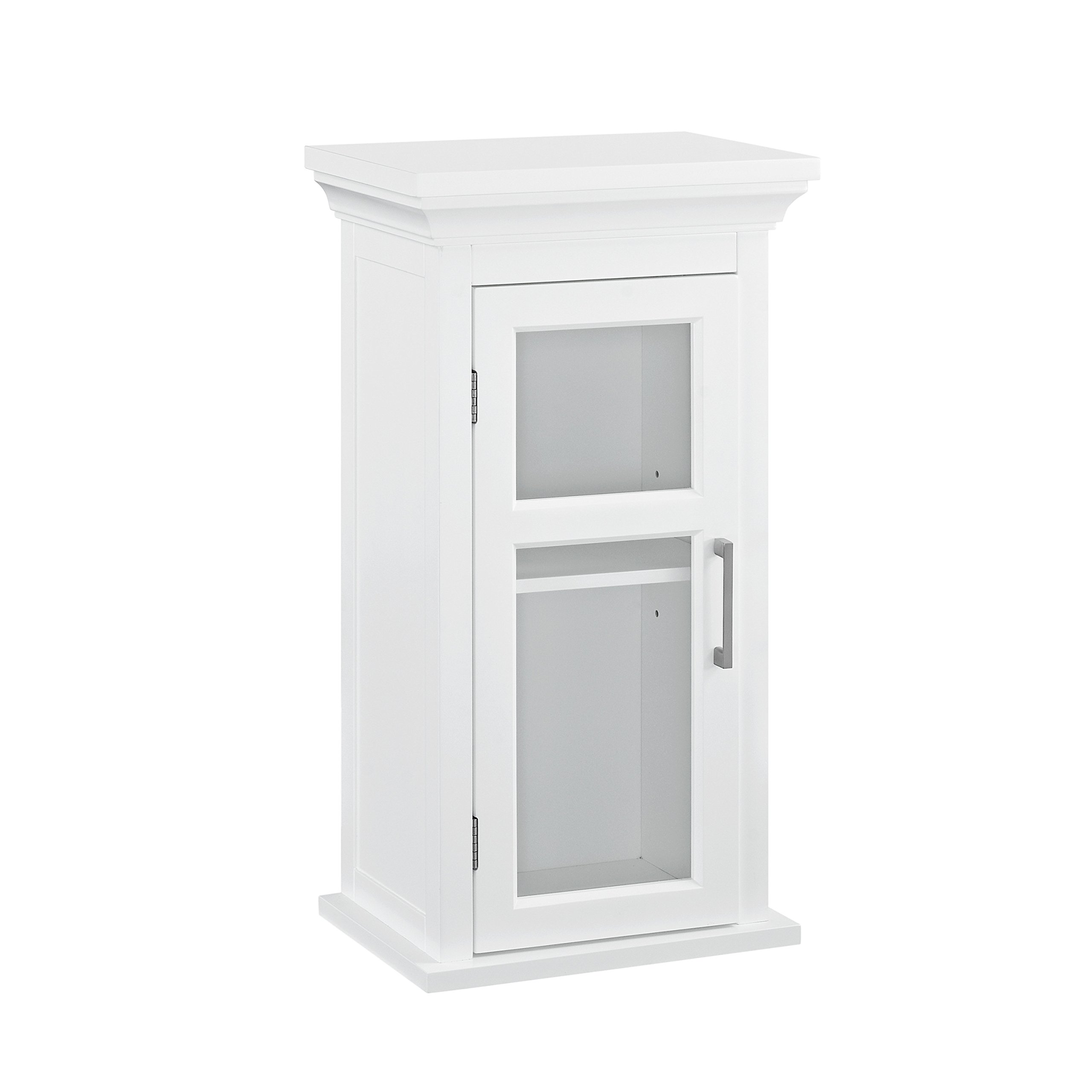 Simpli Home Avington Single Door Wall Cabinet, White