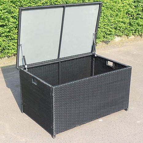 Xllll Gartenbox Aufbewahrung Wasserdicht Kiste Fur Bin Schuppen Garten Rattan Mit Radern Outdoor Garten Aufbewahrungsbox Rattan Style Amazon De Kuche Haushalt