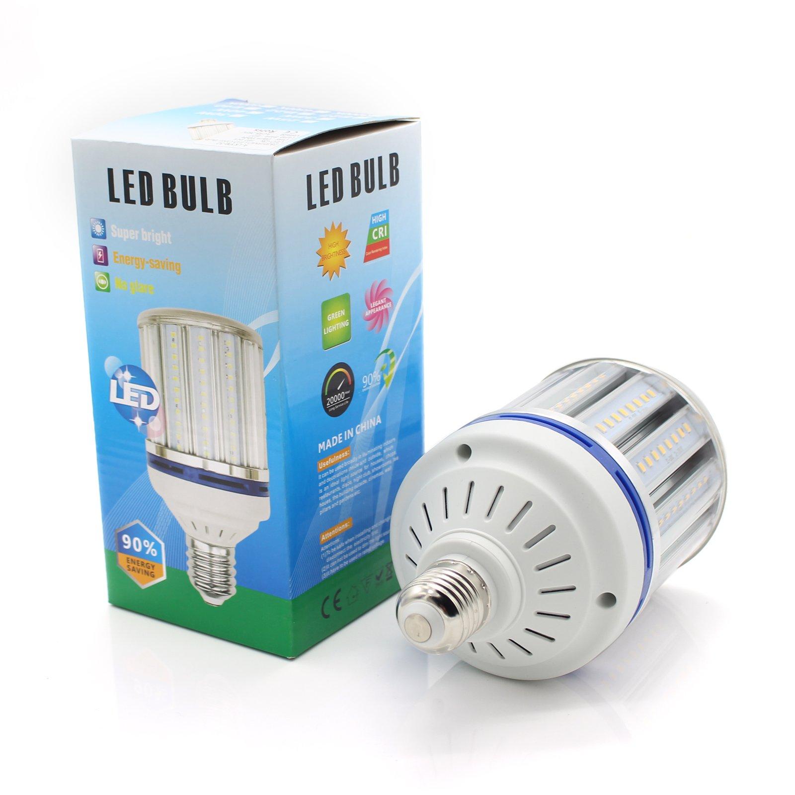 Mininono Ultra Bright LED Bulb Warm White 3000K Medium Edison E26/E27 Base, 30W Commercial Retrofit Light Bulbs, 250-300 Watt Equivalent for Garage Warehouse Home High Power Lights