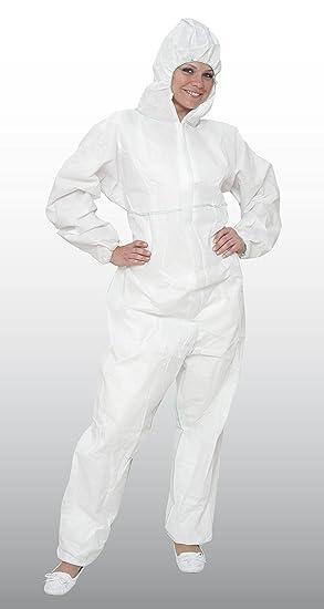 25 X de protección química Overalls Cat. III tipo 5 + 6 en ISO 13982