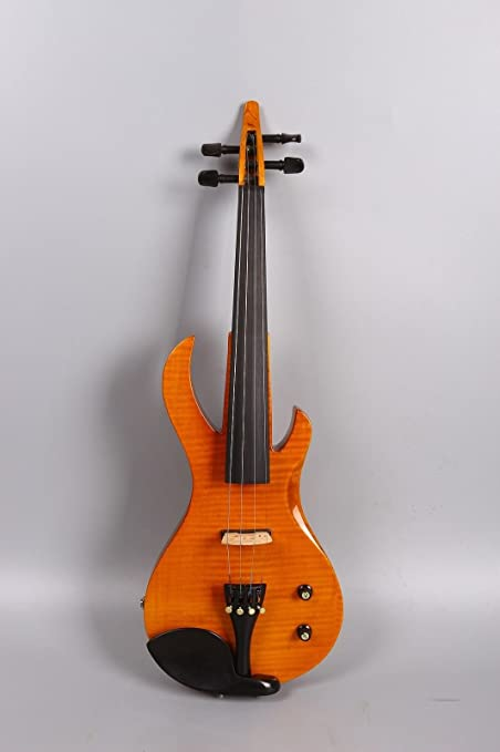 Amazon.com: Yinfente 4/4 Violin Metallic Electric Violin Electric Guitar Shape Professional Violin Solid wood Full Size: Musical Instruments