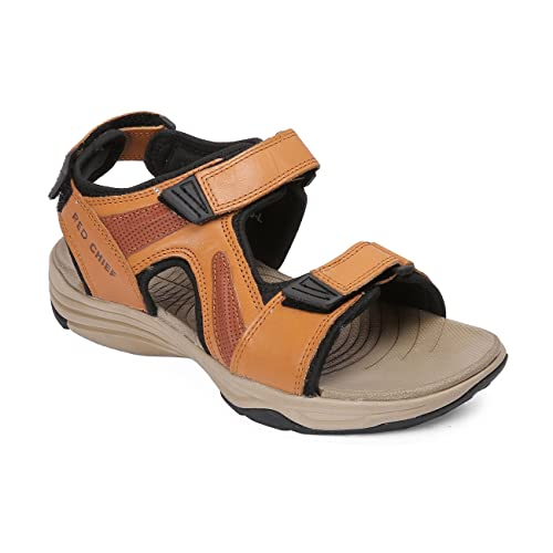 e148598f7614 Red Chief Men s Tan Leather Outdoor Sandals-6 UK (40 EU) (RCF15004 251 6)  Buy  Online at Low Prices in India - Amazon.in