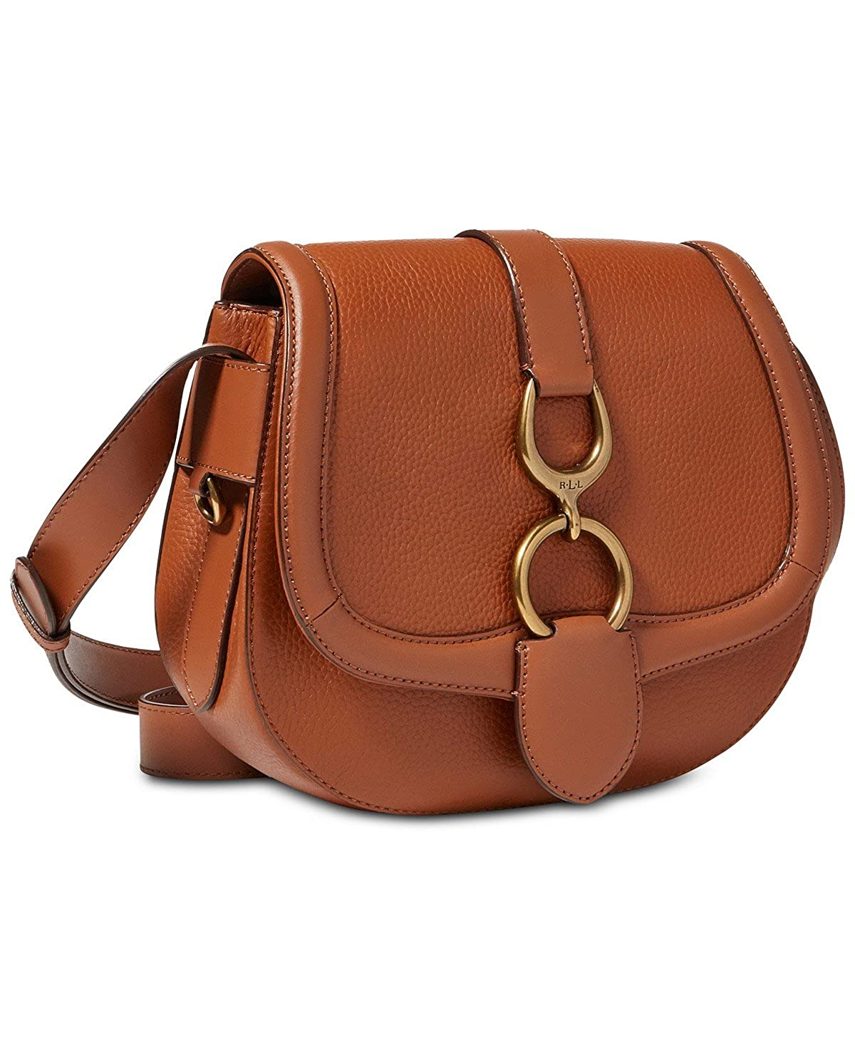 2572bc368264 Lauren Ralph Lauren Barrington Saddle Small Crossbody (Tan)  Amazon.ca   Shoes   Handbags