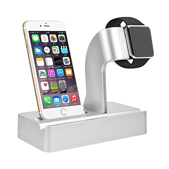 competitive price 87b17 e34b7 Cszlove iPhone iWatch iPad 3 in 1 Combo Charging Dock Cradle Holder for  Apple Watch/iPad/iPhone 7/7 Plus / 6/6 Plus (Silver)