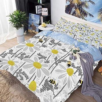 Amazon.com: Juego de cama de 3 piezas, estilo jacquard ...