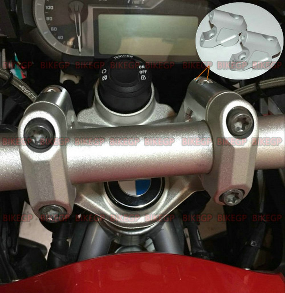 BIKE GP for BMW R1200GS LC GSA//S1000XR handlebar risers Height up Adapters Raise after moving Suitable for 32MM diameter