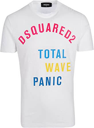 DSquared Camiseta - Camiseta - para Hombre Blanco Blanco M(UK)/M(IT)/M(EU): Amazon.es: Ropa y accesorios