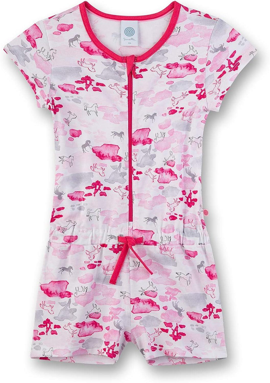 Sanetta Overall Kurz Pijama de una Pieza para Niñas