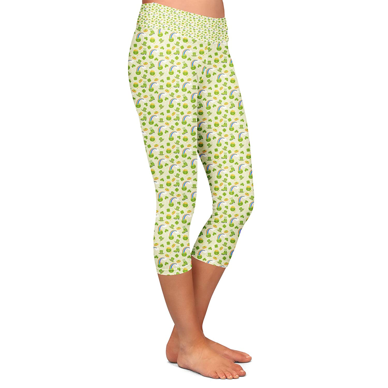 Low Waist Capri 3//4 Length Luck O The Irish Yoga Leggings