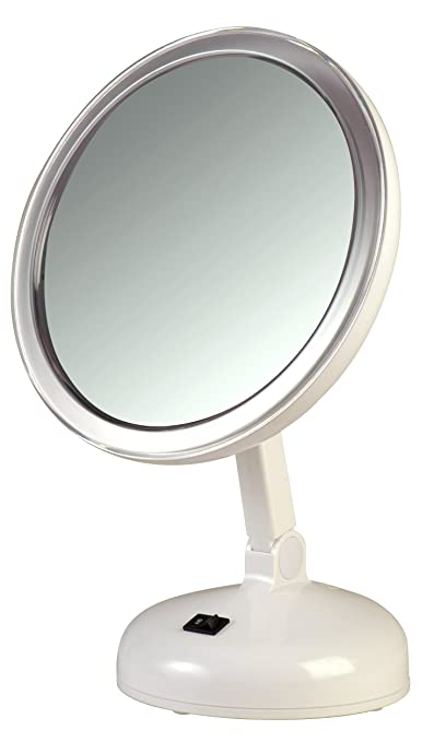 Floxite Daylight Cosmetic Mirror, 10 x Mag