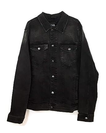 3043d16f Zara Men Basic Denim Jacket 4454/322 at Amazon Men's Clothing store: