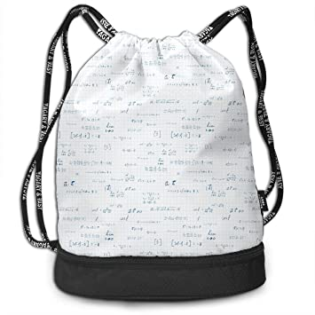 Amazon com | Unisex Drawstring Backpack Funny Math Calculus