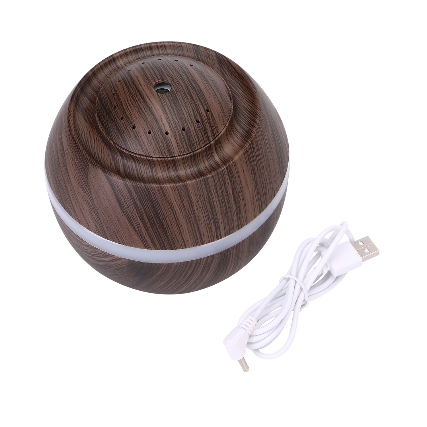 Cool Mist Humidifier Ultrasonic Aroma Essential Oil Diffuser for Office Home Bedroom Living Room Study Yoga Spa - Wood Grain (Brown)