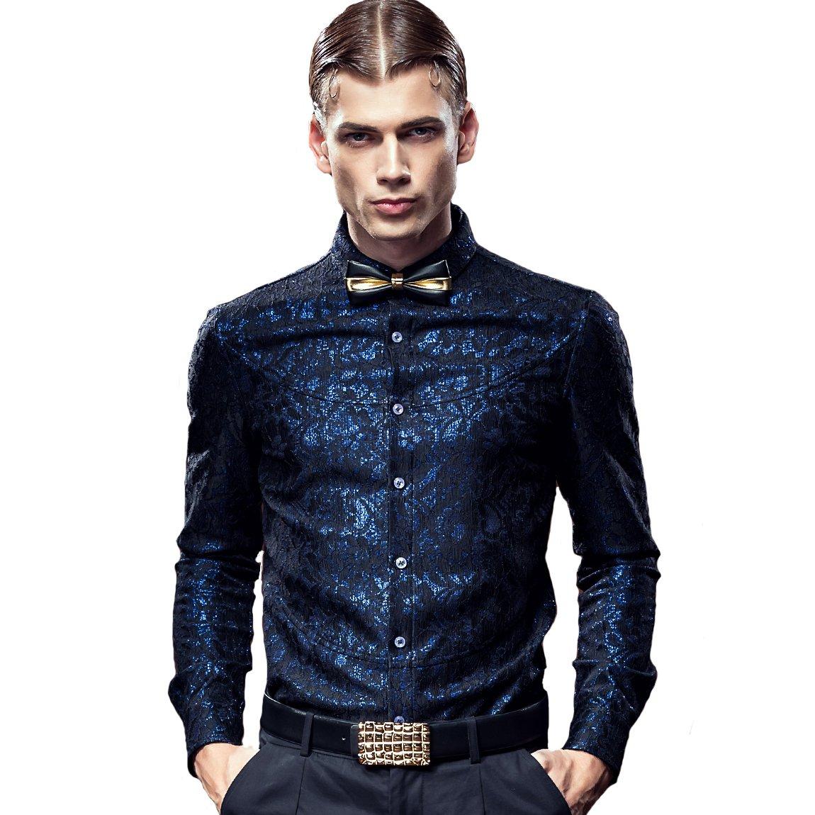 FANZHUAN Shirt Slim Fit No Stiro Camicia Uomo Elegante Maniche Lunghe Casual Lusso 612106