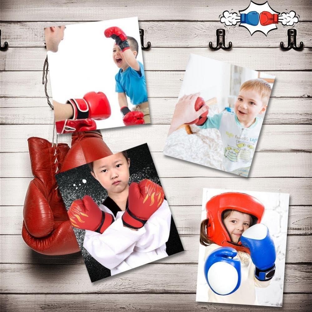 Tbest Kinder Boxhandschuhe MMA Handschuhe PU Leder Junior Kampfkunst Muay Thai Boxing Training Kampf Sparring Punching Kickboxen Grappling Sandsack Handschuhe f/ür M/änner Frauen Kinder