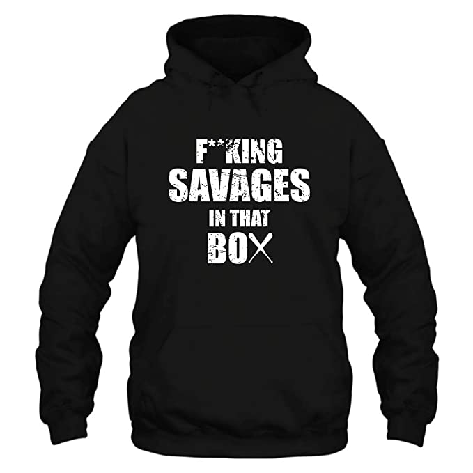 save off 93c1e 600a9 Amazon.com: Fucking Savages in That Box T Shirt Baseball ...