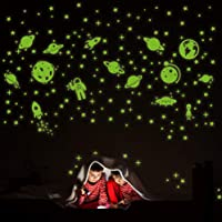 260 PCS Glow in The Dark Stars, Glowing Stars for Ceiling, Star Wall Decals Solar...