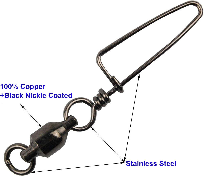 VMC SSTSS-10 Stainless Steel Tournament Snap Swivel Size 1//0 400lb Test 2 pack
