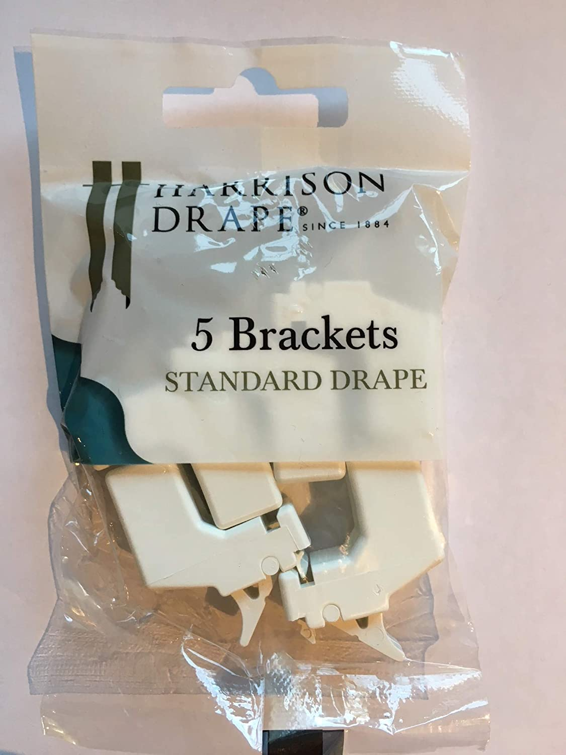 5 X HARRISON DRAPE CURTAIN TRACK BRACKETS extra super standard rail supports W1793