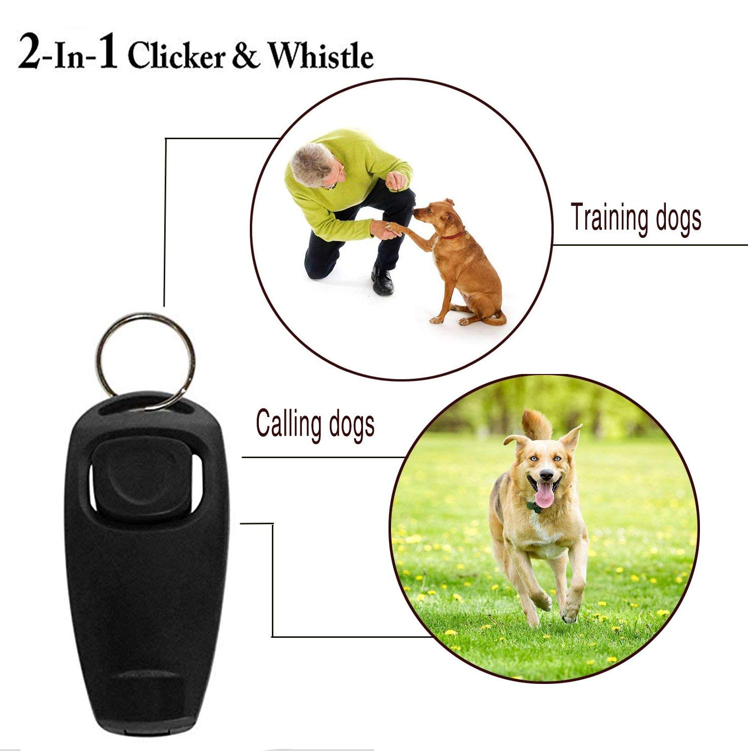 Best Tek Dog Whistle to Stop Barking and Dog Obedience Clicker