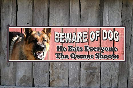 Amazoncom Adonis554dan Beware Of Dog German Shepherd Warning Sign