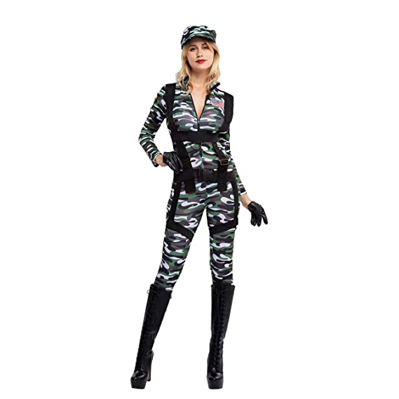 Spooktacular Creations Pretty Paratrooper Jumpsuit Halloween Army ...