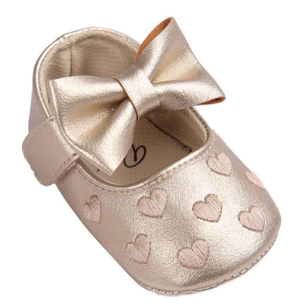 UOMOGO Scarpine neonato Bowknot Scarpe Bambino Scarpe Casuali 6-18 Mesi