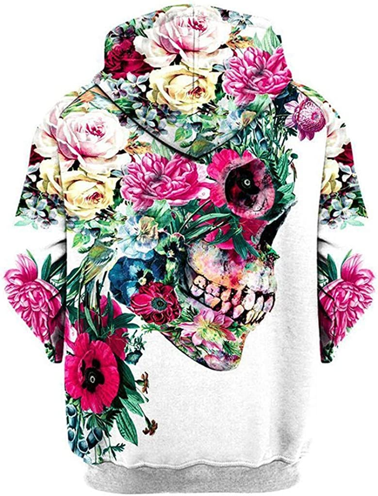Autumn Winter Folwer Printing Long Sleeve Hoodies Sweatshirt Lisin Unisex Lovers Casual Top