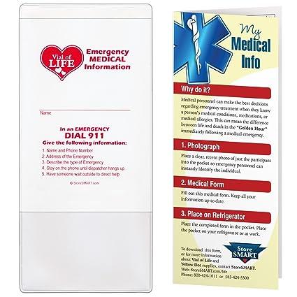 amazon com storesmart vial file of life emergency medical info