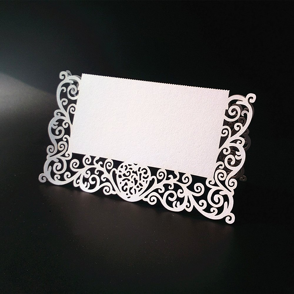 JANOU Place Card Table Name Card Paper Seat Numbers Cards for Wedding Birthday Party Decoration Pack 50pcs