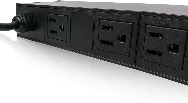 NEMA 5-15P PDU MARUSON Basic Power Distribution Unit UL Certified /& RoHS Compliant 1U Horizontal Rack-Mount 120V 10 NEMA 5-15R Outlets PDU-R1510 10-Foot Cord