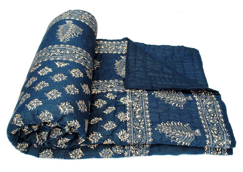 Amazon.com: Exclusive Indian Jaipuri Quilt With Authentic ... : cotton filled quilt - Adamdwight.com