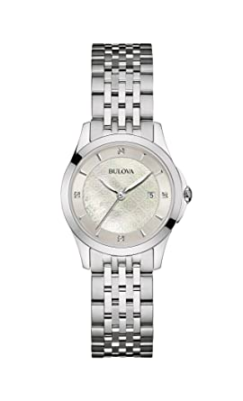 Image Unavailable. Image not available for. Color  Bulova womens 96P160  14mm Stainless Steel Silver Watch Bracelet 29bba10d2