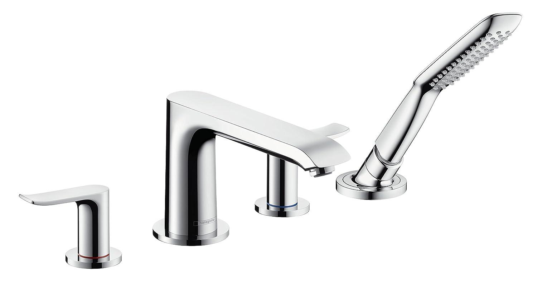 Hansgrohe 31442000 Metris Grifo de 4 agujeros para borde de bañera Plata: Amazon.es: Bricolaje y herramientas