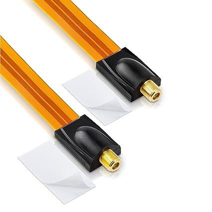 sonero pasaventanas para/Cable Coaxial de satélite (Conector F a conector F, incluye