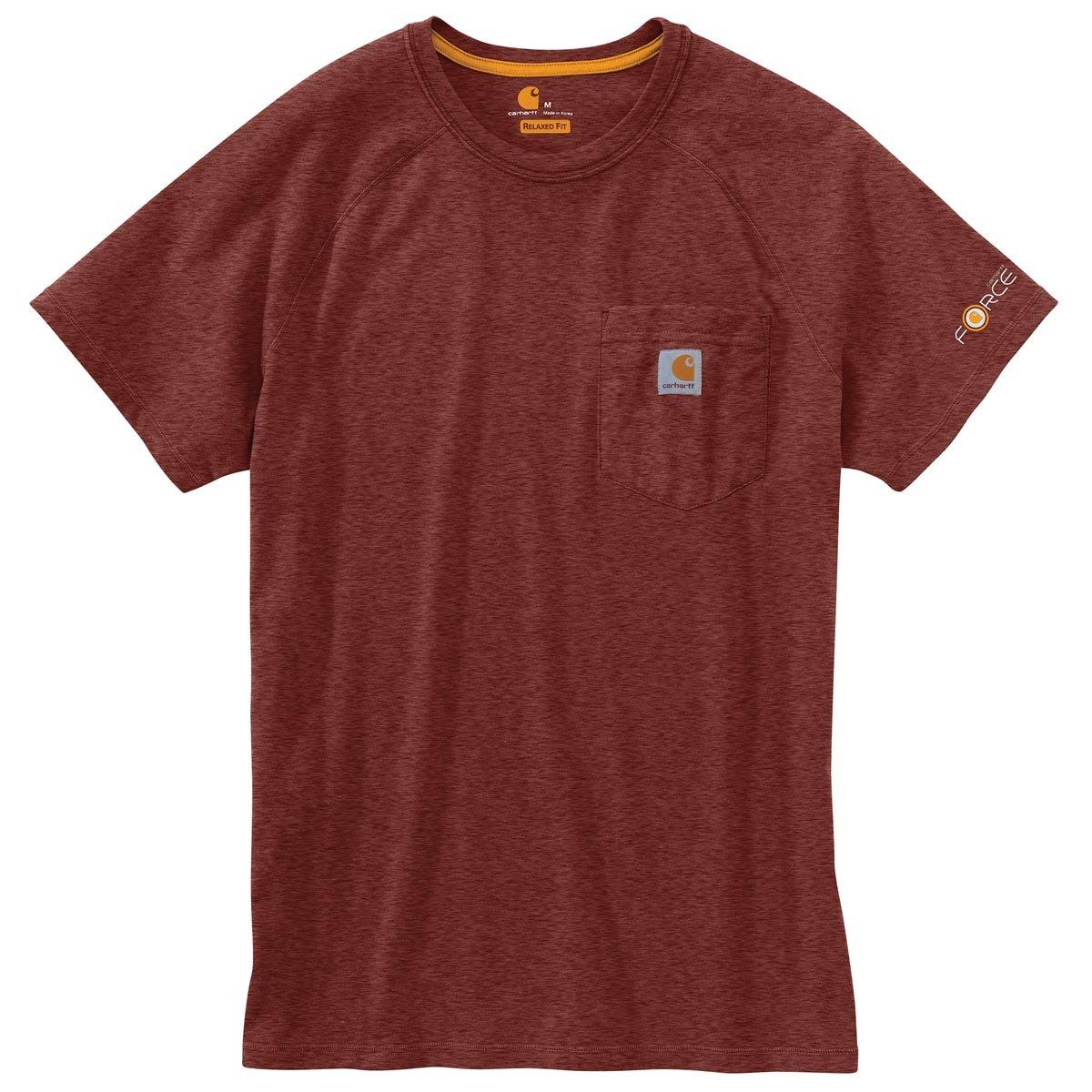 Carhartt Men's 100410 Force Short Sleeve Pocket T-Shirt - XX-Large - Sable Heather