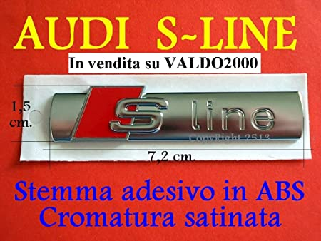 Audi S-Line SLINE A1 A3 A4 A5 A6 A7 TT S Serie Q Stemma Laterale
