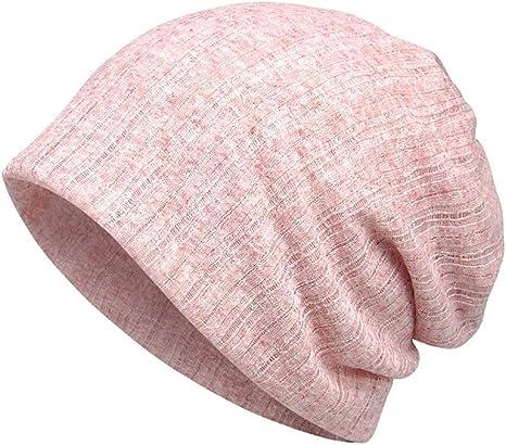 Leezo - Gorro de algodón Transpirable y Fino, Muy Suave, elástico, para Mujer y Hombre, 5 Colores, Rosa: Amazon.es: Deportes y aire libre
