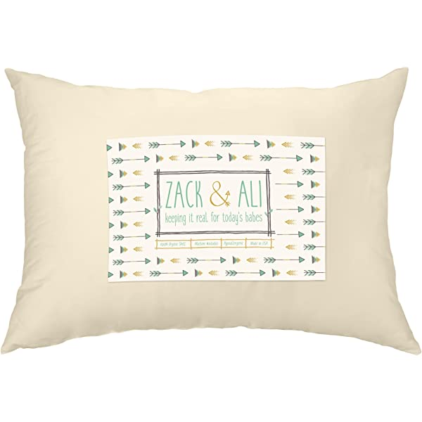 GeoLeaf Print 2 Toddler or Travel Pillowcases in Organic Cotton to Fit 13 x 18 and 14 x 19 Pillow Rose