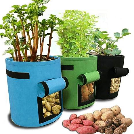 Velidy Bolsa de Cultivo de Patata, 3 Bolsas de Cultivo para ...
