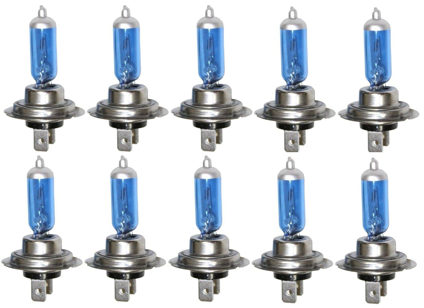 Aerzetix: Lot de 10 Ampoules H7 24V 100W à Effet Xénon pour camion poids lourd C2051-K22-R11x10