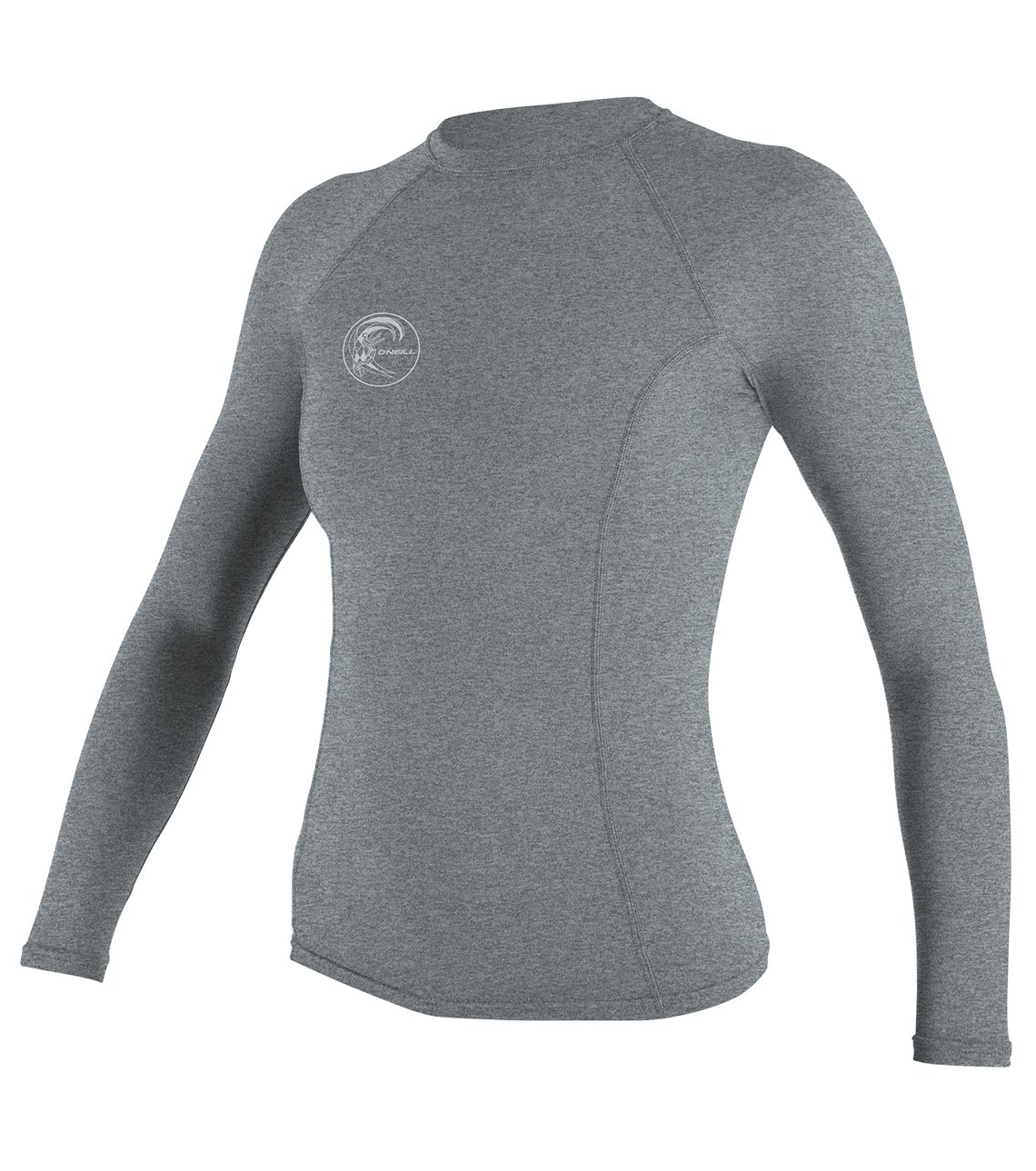 O'Neill Wetsuits Women's Hybrid UPF 50+ Long Sleeve Rash Guard, Cool Grey, X-Small by O'Neill Wetsuits