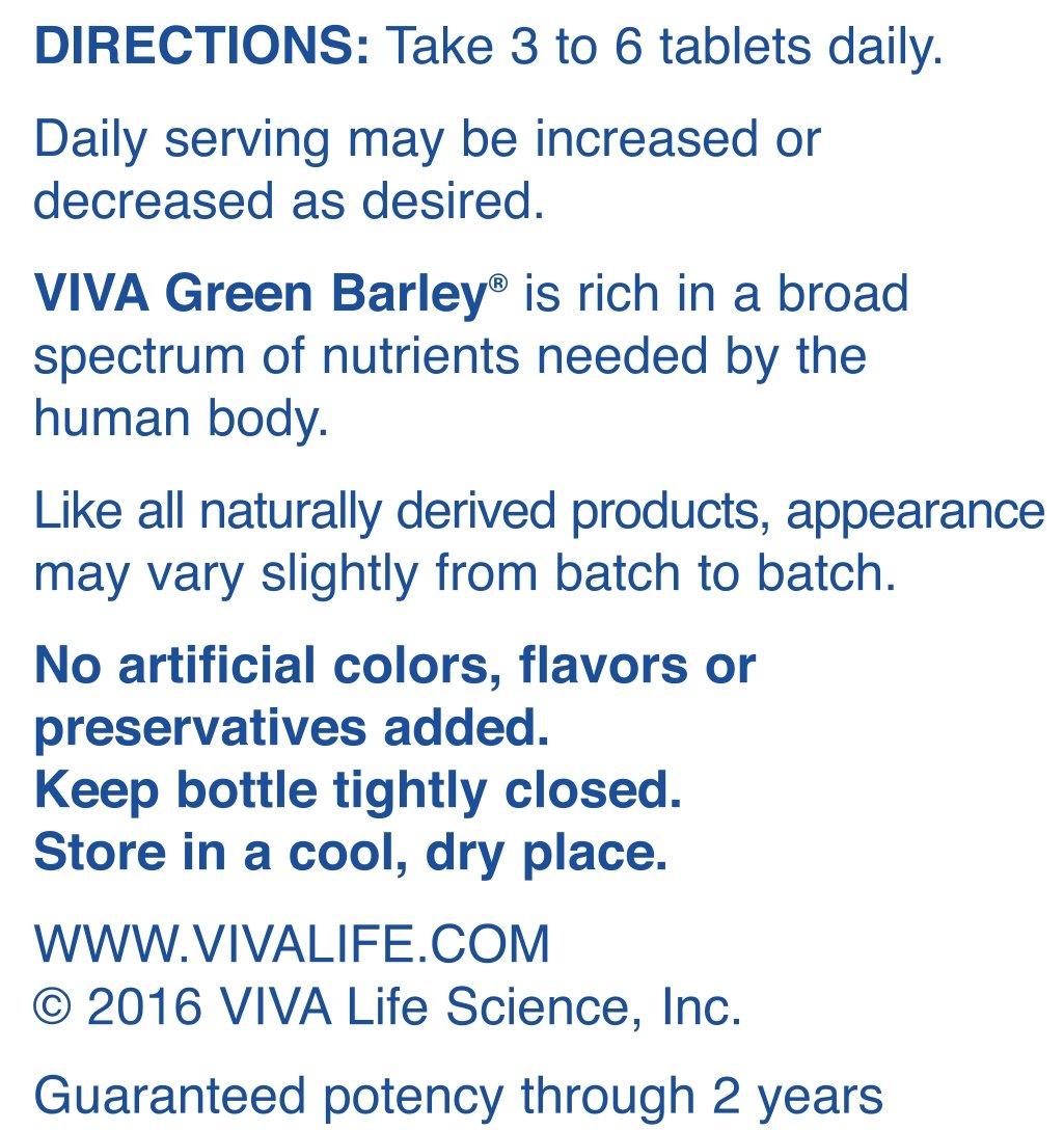 Amazon.com: Viva Vida ciencia verde cebada con Aloe Tablet ...
