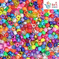 3mm//15 Colors//7500 Beads Amaoz 7500pcs Glass Seed Beads,15 Multicolor Assortment,Craft Seed Beads Pastel Pony Beads Assorted Kit with Organizer for Jewelry Making,Beading,Crafing