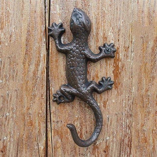 """Wall Decor Hook Iron Home Decoration Cast Iron Lizard Hook 6/"""""""